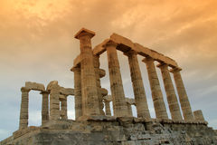 Greece, Temple of Poseidon Stock Photos