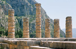 Greece, templo de Apollo. Foto de Stock