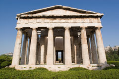 Greece, templo de Hephestus Foto de Stock Royalty Free