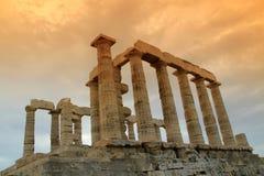 Greece, templo de Poseidon Fotos de Stock