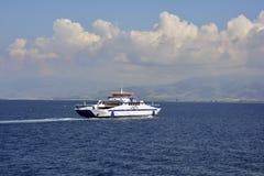 Greece, Thassos Island, Ferry Stock Photo