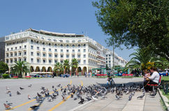Greece, Thessaloniki, Aristotelous Square Royalty Free Stock Photo
