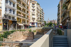 Greece, Thessaloniki. The excavations of the palace of the Roman Royalty Free Stock Photography