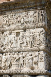 Greece, Thessaloniki. Fragment of bas-relief of arch of Galleriu Royalty Free Stock Image