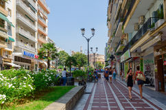 Greece, Thessaloniki, the historic center of the city. Street wi Stock Image