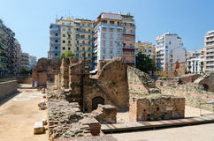 Greece, Thessaloniki. The ruins of the palace of the Roman Emper Stock Image