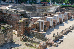 Greece, Thessaloniki, the ruins of the Roman Forum (I - IV centu Stock Photos