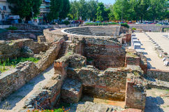 Greece, Thessaloniki, ruins of Roman Forum Stock Photo