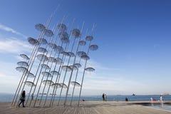 Greece Thessaloniki Umrellas Royalty Free Stock Image