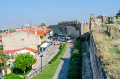 Greece, Thessaloniki, view from White Tower on the narrow street Royalty Free Stock Image