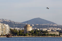 Greece Thessaloniki White Tower Stock Photography