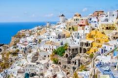 Greece, Thira, Oia town. Scenic view of Oia town, Santorini, Greece Royalty Free Stock Photo