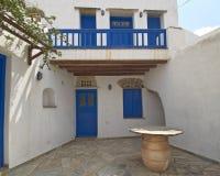 Greece, Tinos island, house entrance Stock Photography