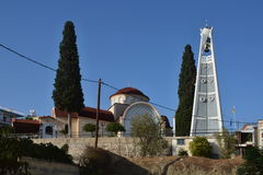 Greece,Tolo-view of the church and belfry Stock Images