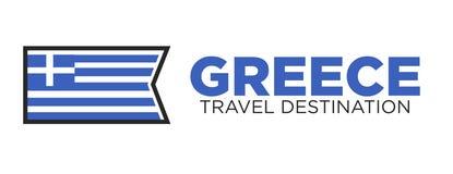 Greece travel destination logo Stock Photo