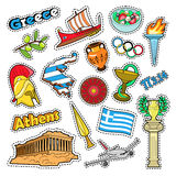 Greece Travel Elements with Architecture Royalty Free Stock Image