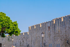 Greece trip 2015, Rhodos island, ancient part of Rhodes city Royalty Free Stock Photography