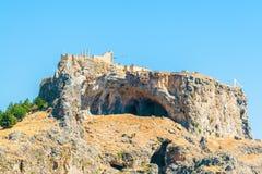 Greece trip 2015, Rhodos island, Lindos. Acropolis of Lindos royalty free stock photography