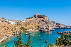 Greece trip 2015, Rhodos island, Lindos Stock Images