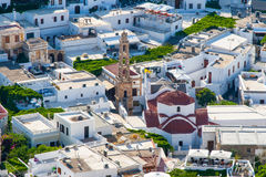 Greece trip 2015, Rhodos island, Lindos. Overview of Lindos royalty free stock photo