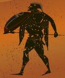 greece vägg- målning royaltyfri illustrationer