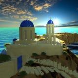 Greece - vacation background Stock Photos