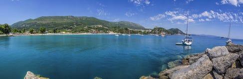 Greece - Valtos Beach - Ionian Sea - Parga - Panorama Stock Image