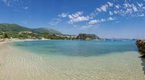 Greece - Valtos Beach - Ionian Sea - Parga - Panorama Royalty Free Stock Photo