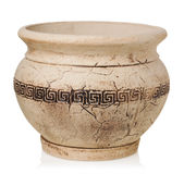 Greece vase on a white background Stock Photo