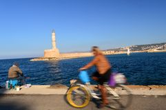 Greece: Venetian Harbour Chania Royalty Free Stock Photos