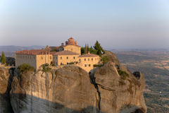 Greece. View of Agios Stefanos nunnery in Meteora Stock Photography