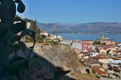 Greece-view of the fort and the city Nafplion Stock Photography