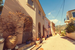 Greece village Stock Images