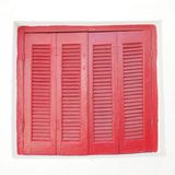 Greece, vintage house red window Royalty Free Stock Photo