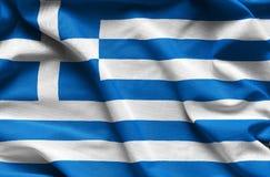 Greece waving flag. Close up fabric background Royalty Free Stock Image