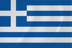 Greece waving flag. Vector image of the Greece waving flag vector illustration