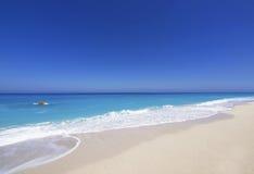 Greece. Wild beautiful natural archipelago beach with rocks in water. Island Lefkada, Leucas or Leucadia, Levkas, Lefkas, ionian sea, Greece Stock Photo
