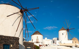 Greece Windmills Royalty Free Stock Photography