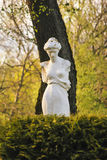 Greece woman statue in park Stock Image