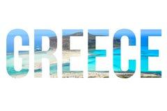 Greece word Stock Photography