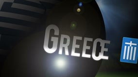 Greece world cup 2014 animation with football stock video