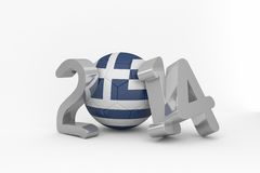 Greece world cup 2014. On white background Royalty Free Stock Images