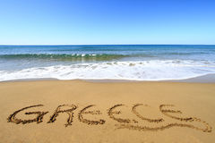 Greek beach Royalty Free Stock Photos