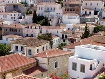 greece wyspy hydry miasta widok fotografia royalty free