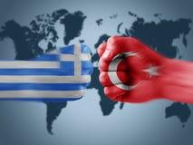 Greece x turkey Royalty Free Stock Image