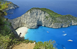 Greece, Zakynthos. Island, shipwreck beach, preferred travel destination and landmark stock image