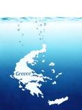 Greeces standard Arkivfoto