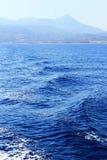 GreeceView brzeg od błękitnego morza Zdjęcie Stock