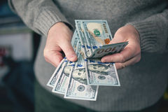 Greed for money, background of the money, dollars Stock Photography