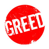 Greed rubber stamp Royalty Free Stock Images